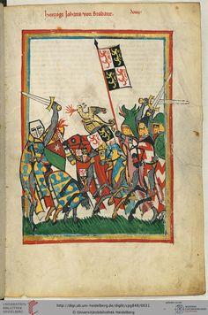 Herzog Johann (oder Jan) von Brabant (um 1254-1294) war einer der angesehensten Fürsten seiner Zeit. Er erreichte durch seinen Sieg in der Schlacht bei Worringen im Jahr 1288 die Vereinigung von Brabant mit Luxemburg. Er erlag 1294 den Folgen einer Turnierverletzung.