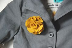 How to make a felt flower    http://www.molliemakes.com/projects/how-to-make-a-felt-flower/