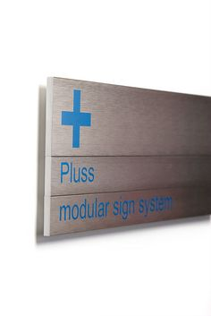 Pluss contemporary sign system by Morgan Signs - Cardiff, via Flickr