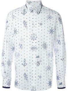 ALEXANDER MCQUEEN Tattoo Print Shirt. #alexandermcqueen #cloth #shirt