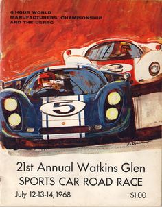 #LeMans cars against a red sky...