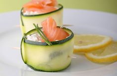 Courgette curls with salmon and cream cheese recipe - goodtoknow