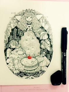 Illustration Snow white