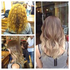 Before after ombre pigmetasyon naturel hair #ombre