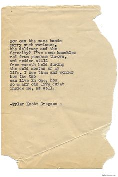 Typewriter Series #1282 by Tyler Knott Gregson*Pre-Order my New book All The Words Are Yours, through Amazon, Barnes and Noble, IndieBound , Books-A-Million , or iBookstore! *