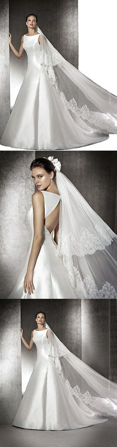 Gogh Ivory 2 Tiers 3 M Cathedral Bridal Veils Truly Zac Posen Italy Lace Edle 30