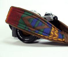Camera Strap with pocket, Tribal 3, Southwestern, dSLR, SLR. $29.00, via Etsy.