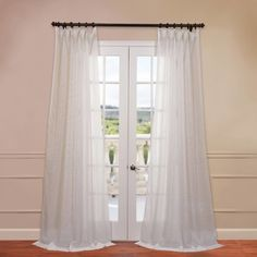 All price range available for the Half Price Drapes Signature Double Layered Off White Sheer Curtain Buy Them Now. Get the Best Value for White Sheer Curtain Compare Prices Buy & Save Online! Sheer Curtain Panels, Cool Curtains, Window Panels, Sheer Curtains, Window Curtains, Cream Curtains, Curtains Living, Blackout Curtains, Curtain Styles