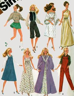 Simplicity 5637 Vintage Sewing Pattern 1980s Barbie by sandritocat, $10.00