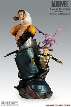Sideshow Collectibles - X-Men VS Sentinel No. 3 - Logan and Shadowcat Polystone Diorama