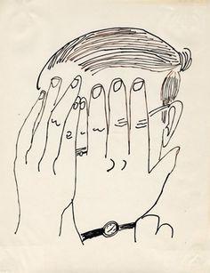 Andy Warhol, Self-Portrait, 1953.