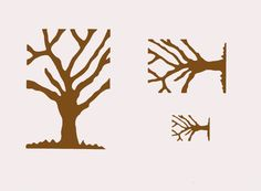 Bare Tree Stencil in 3 sizes from CherScapes $14.00