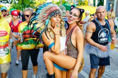 Fantasy Fest in Key West, Florida. A crazy street festival every October.