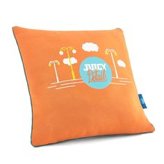 JUICY ORANGE pillow - Juicy Details  Soft, two-sided pillow made of certified knitted cotton fabric and high quality cotton with enhanced softness and delicacy.