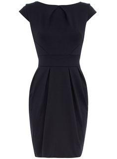 Petite black spot ponte dress - View All Petite Clothing - Petite - Dorothy Perkins United States