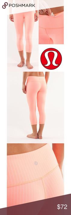 "Lululemon Designed for: yoga, gym, to-and-from fabric(s): luon® properties: moisture-wicking, preshrunk, chafe-resistant, breathable rise: medium inseam: 20.5"" hem sweep: 11"" lululemon athletica Pants Ankle & Cropped"