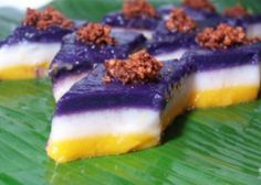 This Filipino rice cake is famous for its 3-colored layers that satisfies any taste bud. Start your own business out of this recipe below.