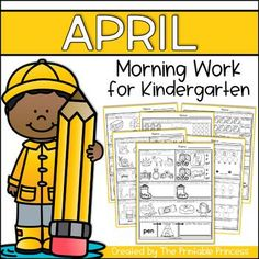 This Common Core aligned April morning work on math and reading for Kindergarten are great for use as morning work or homework. Build student confidence through familiar routine as students review skills like counting to 20, addition and subtraction, beginning and ending digraphs, CVC and CVCe, sight word practice and much more!