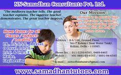 Female Private Home Tutors in  Gurgoan  by Samadhan Tutors Visit: http://www.samadhantutors.com/tutors-in-gurgaon.asp Phone No. :  011-3293-6565, 6469-6465 Mobile :       +91 9891-93-6565 / 9891-94-6565