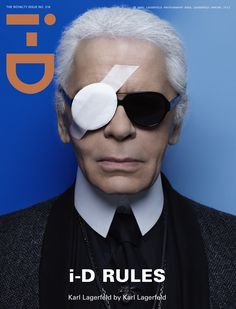 """cMag050 - i-D cover """"Karl Lagerfeld"""" by Karl Lagerfeld / The Royalty Issue nº 318 / Spring 2012"""