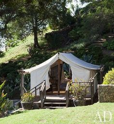 fabulous permanent tent on property.