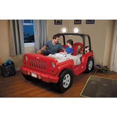 Little Tikes® Jeep® Wrangler Toddler to Twin Bed | ToysRUs Repinned by Apraxia Kids Learning. Come join us on Facebook at Apraxia Kids Learning Activities and Support- Parent Led Group. https://m.facebook.com/groups/354623918012507?ref=bookmark