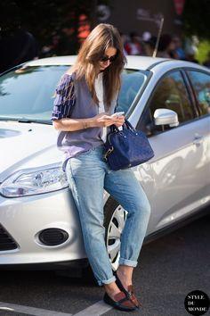 Irina Lakicevic Street Style Street Fashion Streetsnaps by STYLEDUMONDE Street Style Fashion Photography