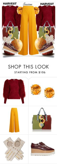 """""""Harvest Season"""" by capricat ❤ liked on Polyvore featuring Sonia Rykiel, Emilia Wickstead, Dsquared2, Black and STELLA McCARTNEY"""
