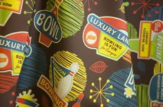 Bowling is Fun for Everyone by jennartdesigns  www.spoonflower.com/fabric/739534