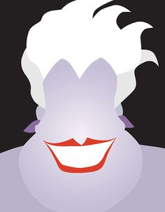 Ursula Everyone knows the bad guys are the most interesting people. Artist Chelsea Mitchell used as few lines as possible to capture the essence of these iconic characters.