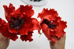 poppy sugar flower video tutorial