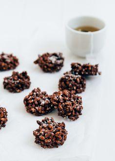 chocolade gepofte rijst koekjes #healthy lions