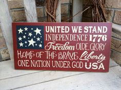 Primitive Americana Subway Art Flag Sign by oldecountrystrokes Christmas Signs Wood, Merry Christmas To All, Primitive Christmas, Primitive Decor, Outside Decorations, Patriotic Decorations, Patriotic Crafts, Fourth Of July Decor, 4th Of July Celebration
