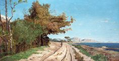 Paul-Camille Guigou - Road by the Mediterranean, near Marseille,1866