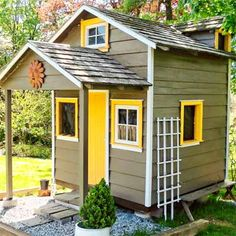 Efficient Backyard Shed Plans: Points to Remember. Outdoor wooden shed plans. Backyard Sheds, Outdoor Sheds, Garden Sheds, Shed Playhouse, Playhouse Ideas, Stone Porches, Shed Makeover, Gazebo, Pergola