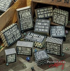 Fun Box Signs. Gifts and Decor