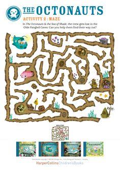 Octonauts maze printable
