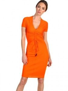 dsquared2 dress.  i'm lovin' orange this spring.