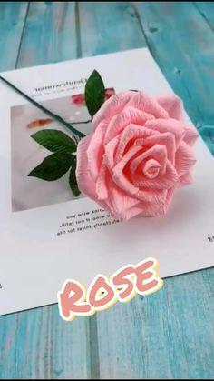 Crepe Paper Crafts, Cool Paper Crafts, Tissue Paper Flowers, Paper Crafts Origami, Crepe Paper Roses, Paper Peonies, Balloon Flowers, Diy Crafts Hacks, Diy Crafts For Gifts