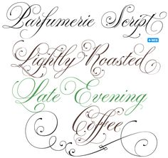 Parfumerie Script font <3