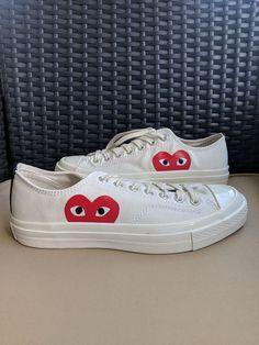 f447e236630 Converse X Comme Des Garcons Play White Men Size 8.5  fashion  clothing   shoes