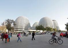 Zaha Hadid's best buildings photographed by Hufton + Crow: Wangjing Soho, Beijing, China, 2014