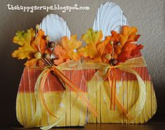 Wooden Candy Corn {The Happy Scraps}