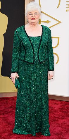 Oscars 2014 Red Carpet Arrivals - June Squibb from #InStyle I love her so much!