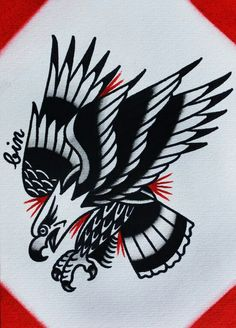 #traditional #tattoo #bird #eagle