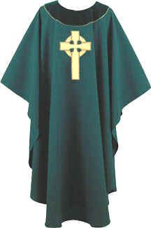 HUNTER CELTIC CROSS CHASUBLE - Clergy Apparel | Pastor Robes | Chasubles