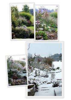 Ein Schweizer Garten  Jahreszeitenvergleich Staudenbeet