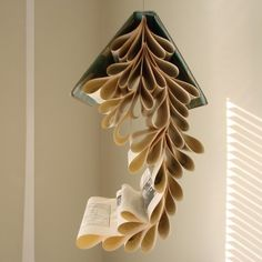 Cool idea to hang above a reading corner... just don't know if I can bring myself to do it!