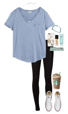 """Harvey is hitting hard⛈"" by gabyleoni on Polyvore featuring Splendid, H&M, Converse, Casetify, Pura Vida, Kendra Scott and NARS Cosmetics"