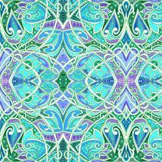 Dizzy Tangled Love fabric by edsel2084 on Spoonflower - custom fabric